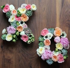It was love at first sight with these romantic floral letters.
