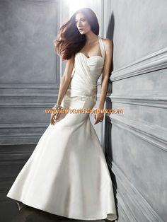 2013 Sexy Brautkleider aus Satin Meerjungfrau mit Schleppe