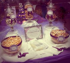 purple popcorn bar courtesy of Page's Popcorn- Oswego, IL