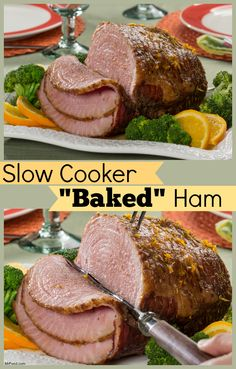 "Let your slow cooker ""bake"" the ham this Easter, so you can have more time to prepare all those extra side dishes!"
