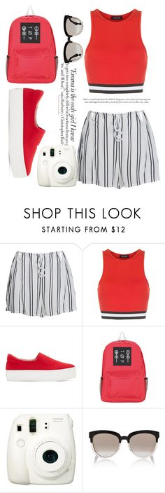 """🎀4"" by romjoneisreal ❤ liked on Polyvore featuring WithChic, New Look, Vanity Fair, Opening Ceremony, Fujifilm, Christian Dior, white, black and red"