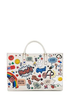 Get inspired and discover Anya Hindmarch Handbags trunkshow! Shop the latest Anya Hindmarch Handbags collection at Moda Operandi. Leather Purses, Leather Handbags, Leather Bags, Leather Totes, Anya Hindmarch Handbags, White Purses, Day Bag, Mode Inspiration, Tote Handbags
