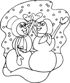 Free Winter Coloring Pages you can print.