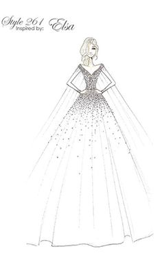 Sneak peek of the Elsa inspired wedding dress from the 2016 Disney Fairy Tale Weddings by Alfred Angelo Collection