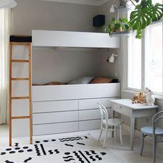 DIY-bunkbed using IKEA Ivar