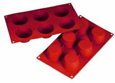 "Fat Daddio's 6-Cup Silicone Muffin Baking Pans, Case of 6 by Fat Daddio's. $51.95. Mold is 12"" x 7"". FDA-approved food grade silicone. Mold has 6 cups. Each cup holds 3-2/5 oz.. Fat Daddio's muffin silicone baking molds are made of non-stick FDA-approved food grade material and can withstand temperatures up to 550 degrees. Perfect for delicate candy, chocolate or muffins, the flexible silicone allows for easy release and little to no pre-greasing. For 43 years, Fat Daddio..."