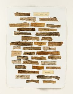 Tessa Grundon (EEUU) Mulberry paper dipped in various muds and local beeswax and printed with longitude, latitude and elevation of site. Latitude Longitude, Mud, Sketch, Printed, Paper, Sketch Drawing, Drawings, Sketches