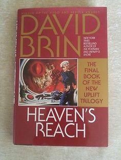 The New Uplift Trilogy #3 Heaven's Reach David Brin 1998, HCDJ 1st Ed 1st Print