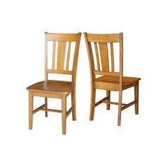 International Concepts San Remo Slat Back Dining Chair 2-piece Set, Brown