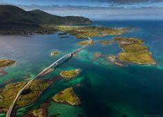 Fredvang bridges -  Flakstad in Nordland county, Norway