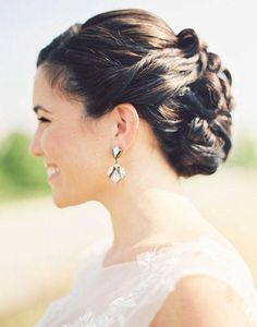 Wedding Hairstyle   : Featured Photographer: Krista A. Jones Photography & Design
