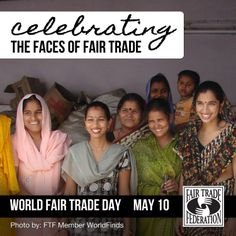 Celebrating the faces of #fairtrade on World Fair Trade Day - May 10! Our artisans celebrate the benefits of #fairtrade!