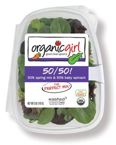 50% spring mix & 50% baby spinach. #organic #greens #spinach #springmix #blend #salad