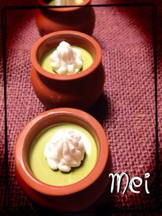 Macha pudding / ともさんの料理 抹茶プリン♪ by メイ at 2014-1-19  #macha is a powdered green tea used in traditional Japanese tea ceremonies and can be found as a flavour in nowadays sweets and is also used to dye food.