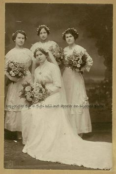 Bride Maids Antique Vintage Cabinet Photo Card 1880s | eBay