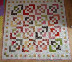 bento quilt using jelly roll strips (with tutorial)