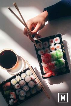 """""""We had this sushi takeaway for lunch yesterday and it was absolute heaven in mouth! I Love Food, Good Food, Yummy Food, Healthy Food, Food N, Food And Drink, Vietnamese Street Food, Sushi Rolls, Japanese Food"""