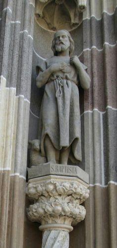 Statue of St. John the Baptist, Košice John The Baptist, My Town, Four Square, Statue, City, Beautiful, Cities, Sculpture, Sculptures