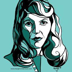 'Sylvia Plath Poet and Writer' by ArtyMargit Sylvia Plath, Canvas Prints, Art Prints, Contemporary Art, Author, Shape, Ink, Portrait, Anime