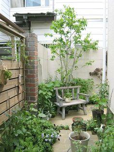 Small garden patio