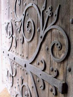 Priory Barn door, Bradford on Avon Barn Door Handles, Door Hinges, House On Haunted Hill, Castle Doors, Bradford On Avon, Door Detail, Rustic Doors, Wood Steel, Unique Doors
