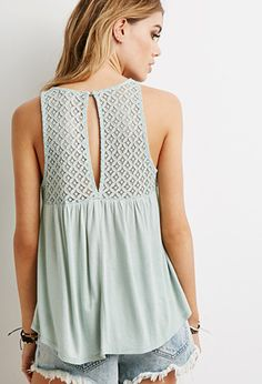 Crochet-Paneled Top | Forever 21 - 2000079996