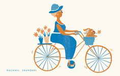 Today I saw a lady cycling in the sunshine with her puppy… it made me smile. Rachael Saunders http://cargocollective.com/rachaelsaunders/Editorial-Lifestyle