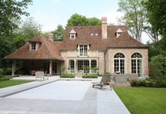 Beautiful Buildings, Beautiful Homes, Future House, My House, Dutch House, Barn Renovation, French Style Homes, Bungalow House Plans, Villa