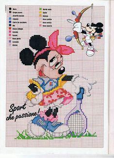 Disney Minnie tennista da ricamare