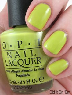 OPI Did it on 'Em - part of the Nicki Minaj Collection - pretty lime green, goes from neon to greyish green depending on the lightening.