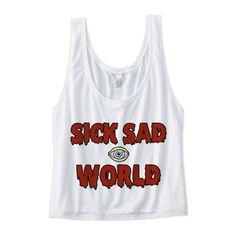 Sick Sad World Crop Top - Daria Shirt - 90s crop top shirt - nineties... (67 LTL) ❤ liked on Polyvore