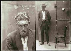 "Walter Smith is listed in the New South Wales Police Gazette in 1924 as ""charged with breaking and entering the dwelling house of Edward Mulligan and stealing blinds,"" ... and with ""stealing clothing in the dwelling house of Ernest Leslie Mortimer."""