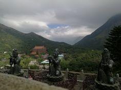 Vistas desde el Buda de Lantau, Hong Kong