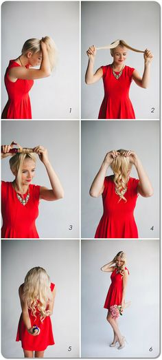 Quick Way to Curl Hair With the Curling Iron. #curlingiron