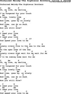 Love song: Unchained Melody-The Righteous Brothers With Chords and Lyrics, For ukulele, guitar, banjo and other instruments. Ukulele Songs Disney, Ukulele Songs Popular, Ukulele Songs Beginner, Guitar Chords And Lyrics, Love Songs Lyrics, Guitar Songs, Kari Jobe, Sara Bareilles, Florence Welch
