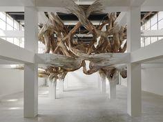 Architectural Columns at the Palais de Tokyo Explode into Organic Forms
