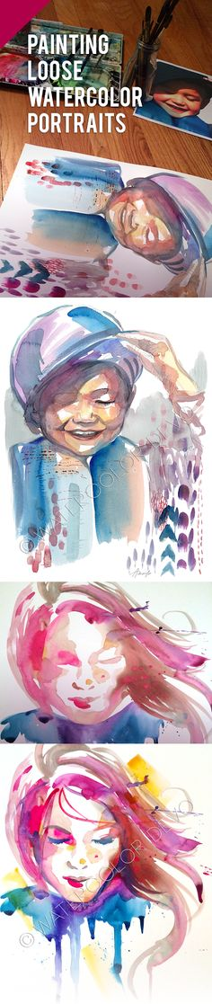 How to paint loose watercolor portraits!