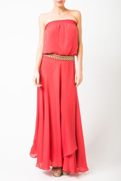 Silk strapless dress. Simple yet gorgeous. from Haute Hippie