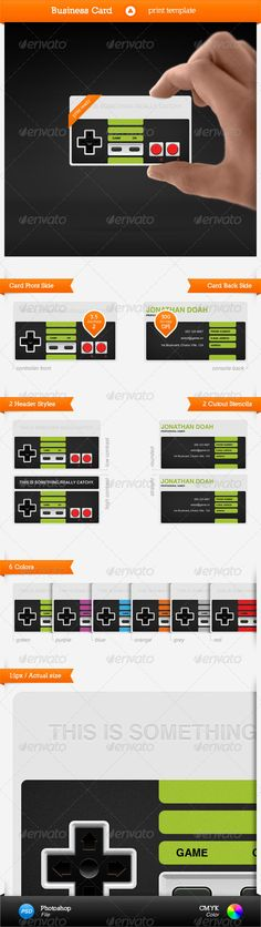 Gaming Business Card #GraphicRiver Features • editable styles, shapes, colors & text • vector shapes • organised • hi-rez • 2 faces • 2 header styles • 2 cutout stencils • 6 colors • 3.5 × 2 in (89 × 51 mm) size & bleed area • 300dpi • CMYK color Files • 1 PSD file Fonts • Helvetica Created: 5January11 GraphicsFilesIncluded: PhotoshopPSD Layered: Yes PrintDimensions: 3.5x2 Tags: black #blue #businesscard #cleean #gamecontroller #gaming #grey #minimal #printtemplate #red #videogame #vintage