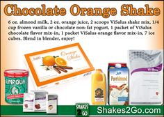 Chocolate Orange Shake - Today's breakfast.... AGAIN! I love this flavor combination - it is the BOMB! Check my other recipes at http://Shakes2Go.com!