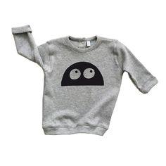 Grey MONSTER Sweatshirt by Organic ZOO