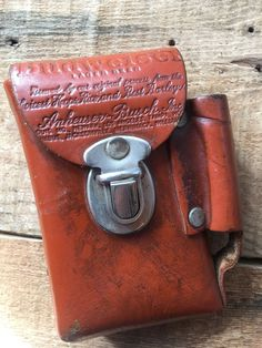 Vtg Leather Budweiser Belt Accessory Pouch Cigarette And Lighter Case USA Made Custom Leather Belts, Lighter Case, Etsy Store, Pouch, Usa, Accessories, Vintage, Sachets, Porch