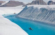 blue river in Greenland