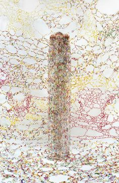 """Rachel Perry Welty, """"Lost in my Life"""" (Twist Tie Column), 2011"""