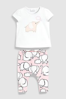 380fc6aac Buy Elephant T-Shirt And Leggings Set (0mths-2yrs) from the Next UK online  shop