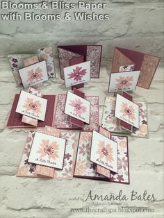 Blooms & Bliss Wishes Pop Out Z Fold Card by Amanda Bates at The Craft Spa