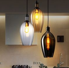 Nordic Loft Style Creative Glass Droplight Edison Vintage Pendant Light Fixtures For Dining Room Hanging Lamp Indoor Lighting