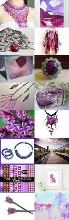 Purple Passion by Dede Sauls on Etsy--Pinned with TreasuryPin.com