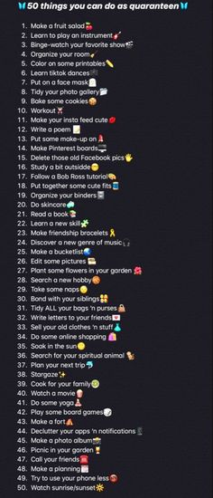 Things To Do At A Sleepover, Fun Sleepover Ideas, Crazy Things To Do With Friends, Sleepover Activities, Things To Do At Home, Self Care Activities, Stuff To Do, Summer Bucket List For Teens, Summer Fun List