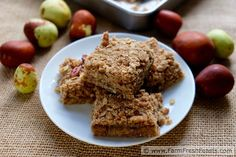 Ever eaten Jujubes (an orchard fruit)? You should!! Jujube Butter Oatmeal Bars